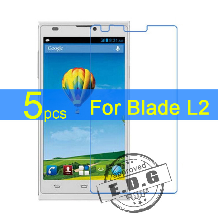 5 pcs brilhante ultra clear lcd screen protector film tampa para zte blade  l2 protective film + pano frete grátis 3d1fd63426d