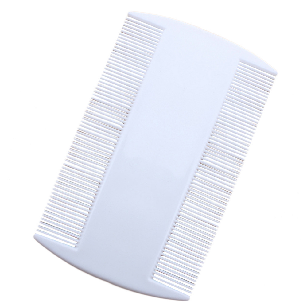 White Durable Double Sided Nit Combs for Head Lice Detection Comb Kids Pet Flea Cat Kitten Dog Comb Multifunction Grooming Tool