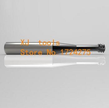 1 шт. M3 * 0,5 * D4 * 50 сплав микро диаметр резец резьбы, фрезерный резец зубов резные инструменты с ЧПУ, Карбид резьбы фрезерование