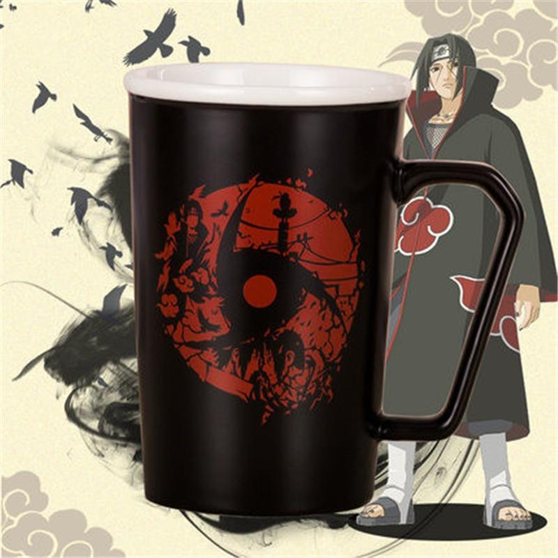 New Anime Cartoon NARUTO Akatsuki Uchiha Itachi Cosplay Props Ceramics Cup 350ml Mug Women Man Home Office Daily Supplies
