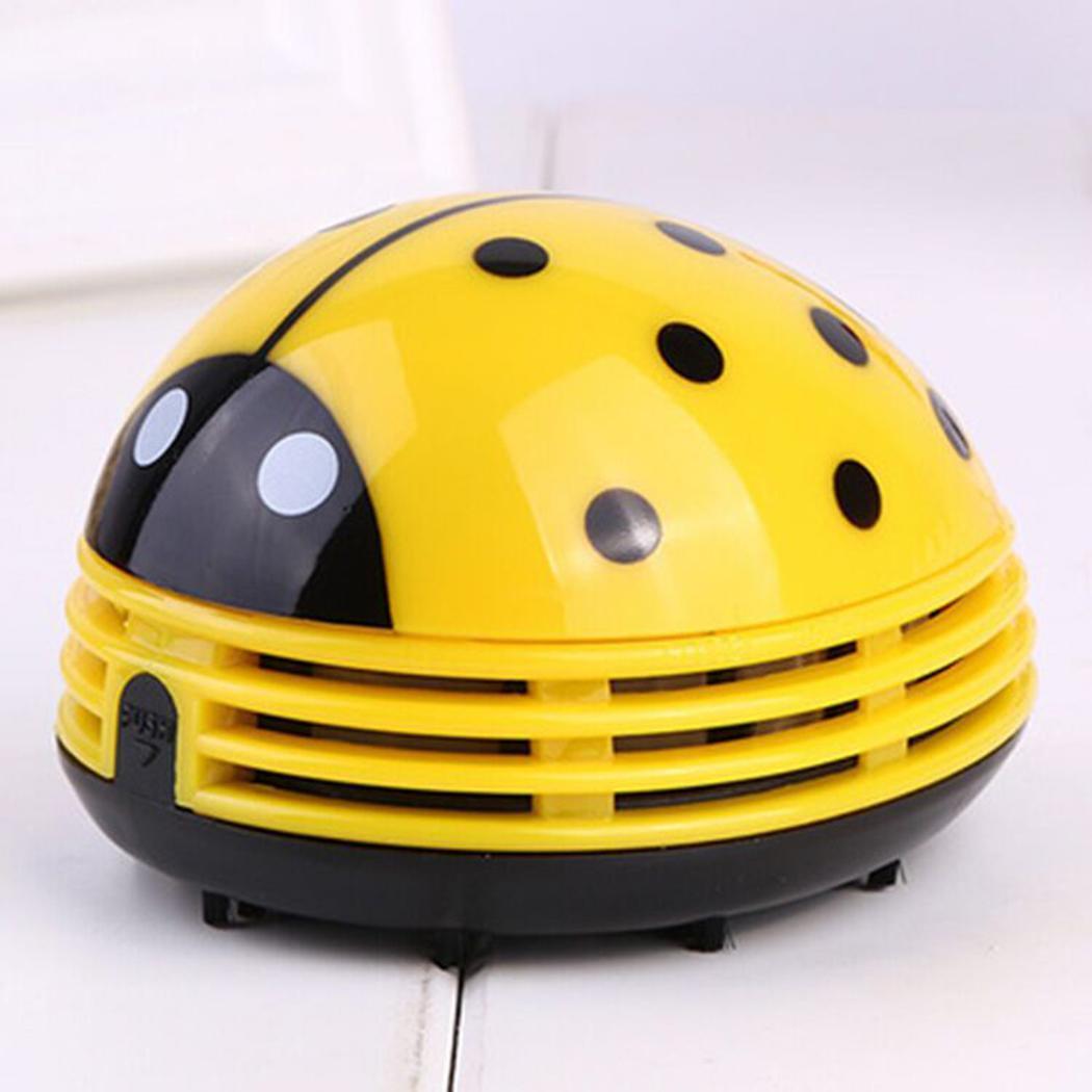 New Cartoon Ladybug Shape Mini Portable Household Vacuum Cleaner(China)