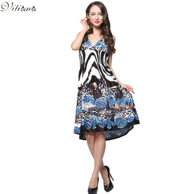 2017 Womens Summer Elegant Boho Beach Clothing Ladies -2615