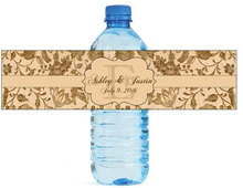 48x Personalized Burlap Water Bottle Labels Wedding Decorations Favors Gifts Tags Personalised Candy Stickers Customized
