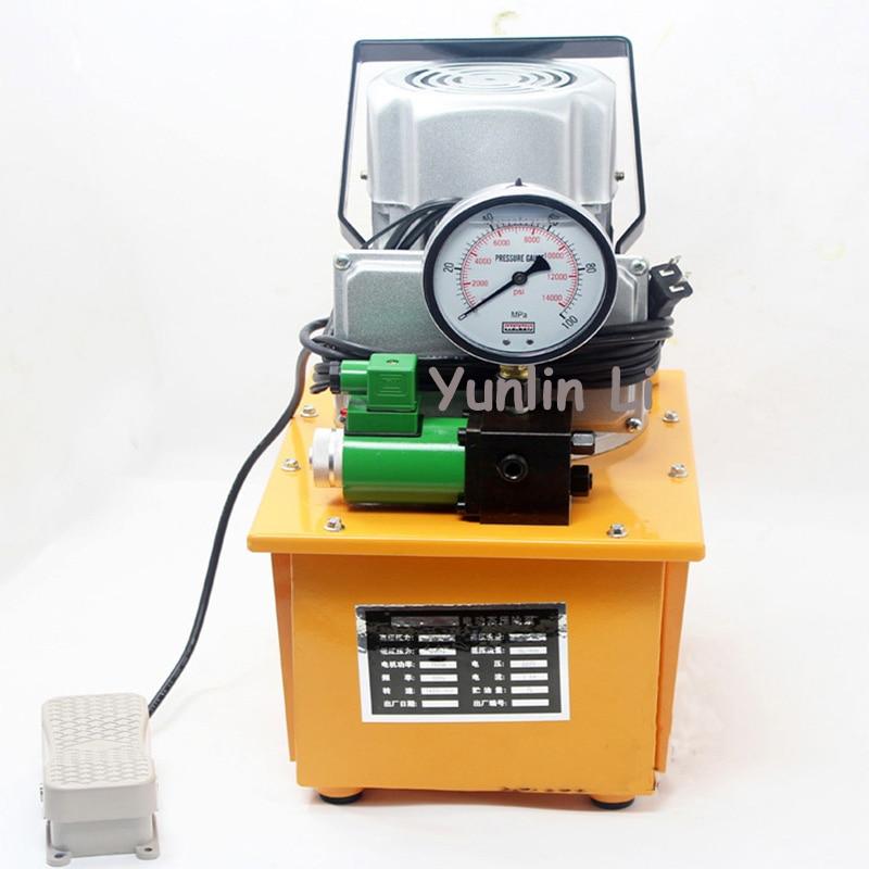 Pompe à pression d'huile pompe électrique hydraulique pédale de pression d'huile-avec électrovanne HHB-700A