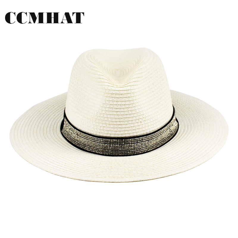 85afa18d4f7d1 CCMHAT 2018 Fashion Fedora Hats For Men 1100 Pcs Diamond Accessories Fedora  Hat For Woman White Fascinator Sun Hats For Women -in Fedoras from Apparel  ...