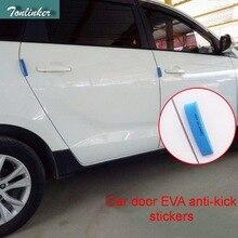 Tonlinker 4 шт. EVA автомобильный Стайлинг белый/синий/черный Автомобильный Дверной анти-удар крышки наклейки для FORD VW honda toyota mazda mitsubishi