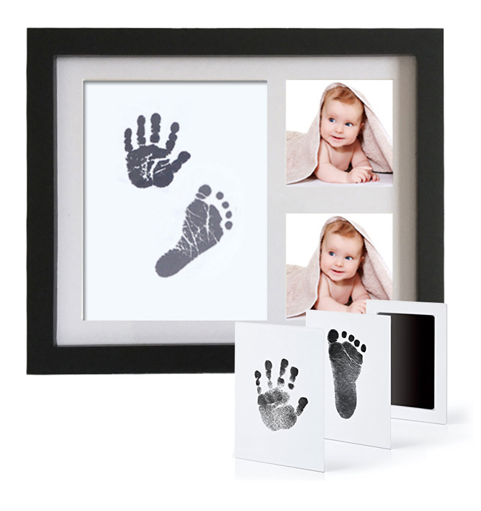 Taoqueen Baby Care Non-Toxic Newborn Handprint Footprint Imprint Kit Casting Parent-Child Hand Inkpad Watermark Infant Clay Toys