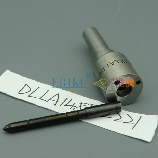 Boquilla ERIKC DLLA 148 P2221 montaje de boquilla DLLA 148 P 2221 dispensador de combustible de aguja negra 0433172221 boquilla de inyectores de carril común
