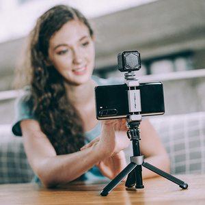 Image 4 - PGYTECH Vlog Phone Extension Pole Plus Selfie Stick Tripod Phone MountFor Smartphone Iphone Android Vlog Set Phone Vlogging Kit
