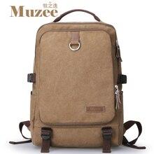 2017 envío de la Alta calidad de lona Muzee hombres mochila bolsas de viaje de los hombres de la vendimia mochila bolsas escuela de mochila portátil, muzee