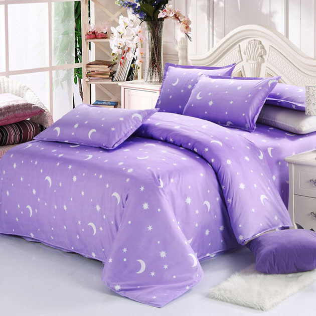 Purple Bedding Sets All About Lavender Lilac Reactive Printed Duvet Covers Twin Full Queen King Size Cotton Comforter Set In From Home