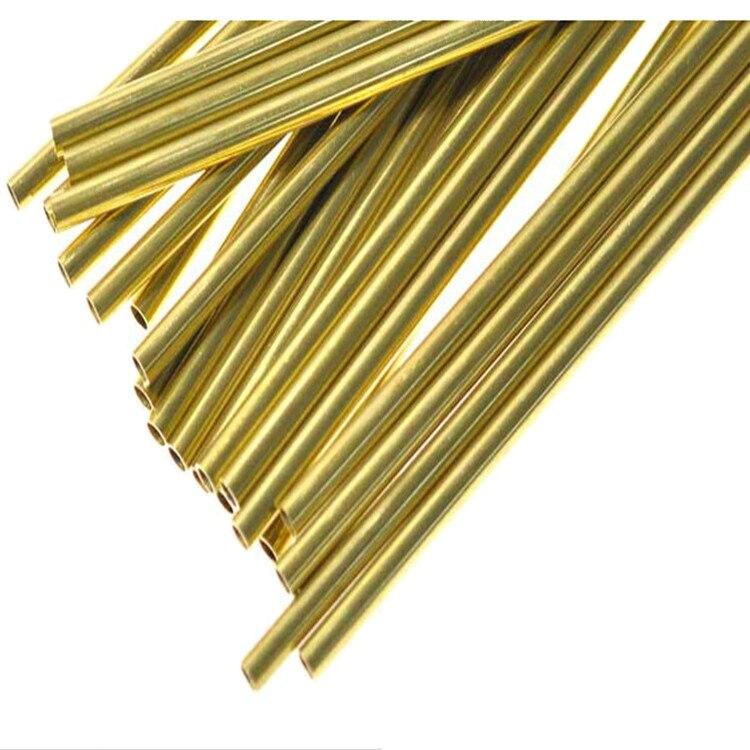 Produit personnalisé, tube en laiton H62 écologique, tuyau en cuivre capillaire, service de coupe, mur OD30 2mm, longueur 50 cm x 2 pièces