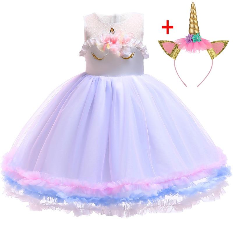 Pâques licorne robe fête carnaval robe fille vêtements anniversaire enfants robes pour filles Costume vêtements princesse 2-10 ans G122