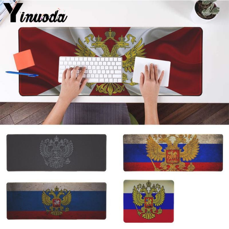 Yinuoda Computer Notebook Desk Mat Russia Flag Coat Of Arms Game Soft Mouse Pad Size For 18x22cm 20x25cm 25x29cm 30x90cm 40x90cm