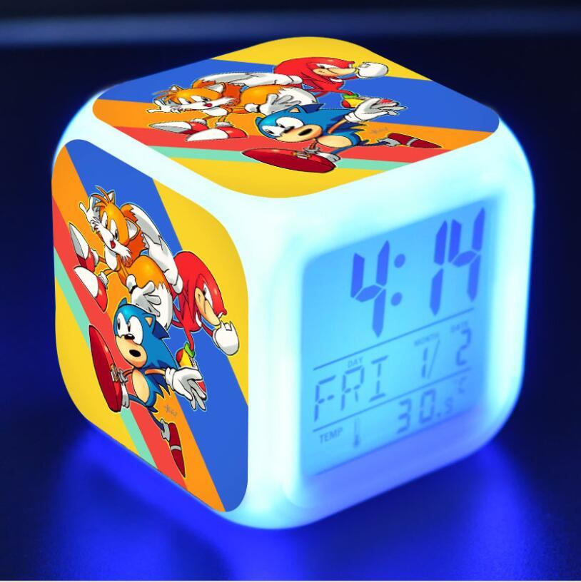 Sonic The Hedgehog LED Cube Alarm Clock 14