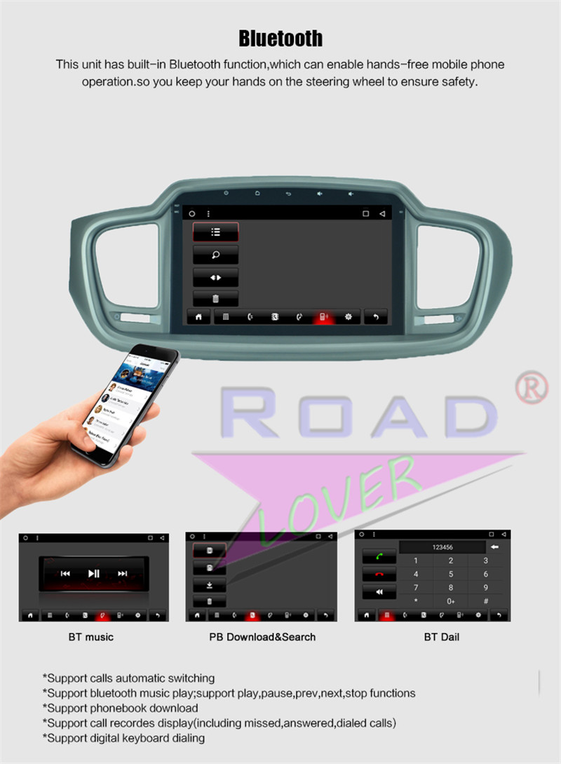 car navigation android For KIA Sorento 2015