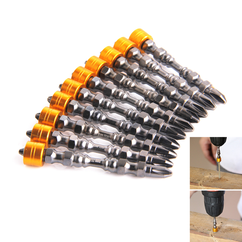 Magnetic Bit Set 65mm Phillips Electronic Screwdriver Bits Double Head For Drywall Screws