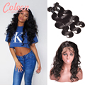 360 Lace Frontal With Bundle Pre Plucked Frontal 7A Peruvian Body Wave With Closure 360 Lace Virgin Hair With Bundles Human Hair