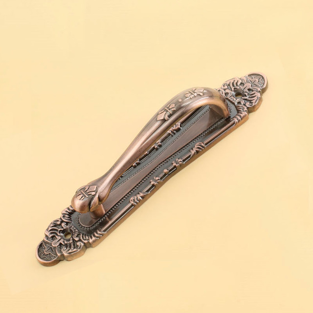 Fashion Design Antique Copper Handle With The Villa Door To Open The Door The Door Handle Contact(C.C.:233mm,Length:300mm)