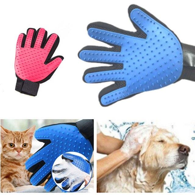 Aseo De Mascotas Peine Guante Para Gatos Perro Cepillo Guantes Lana
