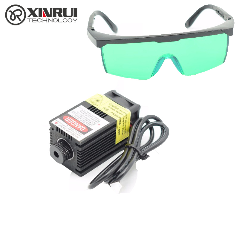 2.5w high power 450NM focusing blue laser module laser engraving and cutting hx 2p port module 2500mw laser tube+goggles high performance 500x300mm low price laser cutting and engraving