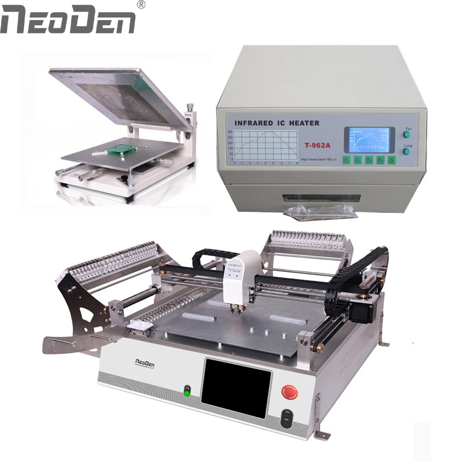 US $6048 0  NeoDen3V desktop smt production line,pick and place,PCB  assembly line,low cost,can work with BGA,QFN,0201-in Pneumatic Tools from  Tools on