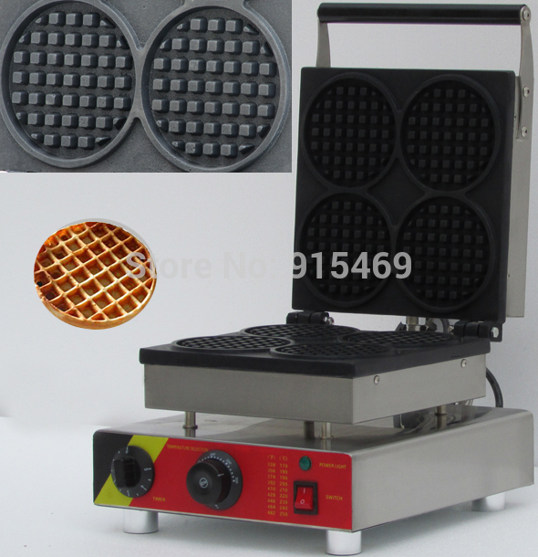 Free Shipping 110v 220v Electric Commercial Round Waffle Maker Iron Machine Baker like hi 6