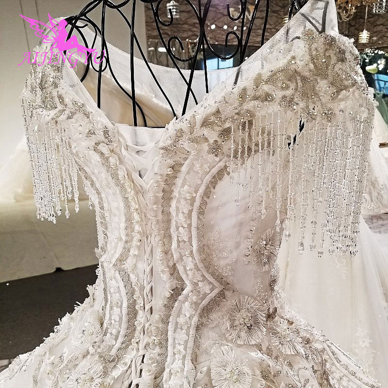 Image 5 - AIJINGYU ヴィンテージ自由奔放に生きるウェディングドレスレースドレス Frocks 2018 ユニークなレトロガウンボールウェディングドレスオンラインショップウェディングドレス   -