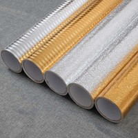 Sticky wallpaper from aluminum cabinets membrane sticker moistureproof paper aluminum foil oil mat is waterproof 39
