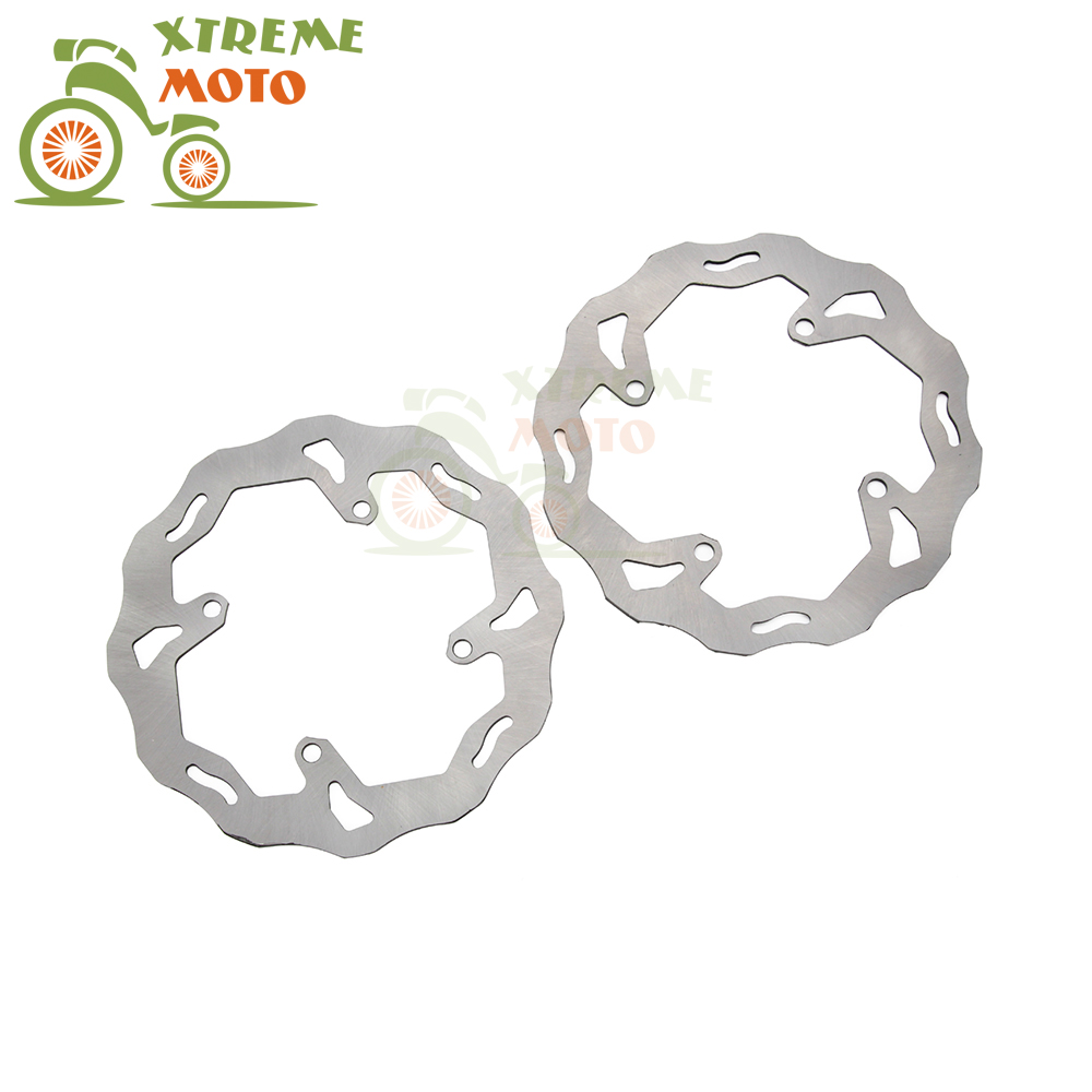Front Rear Wavy Brake Disc Rotor Set For Suzuki RMZ 250 07-14 RMZ 450  05-14 RMX 450 10-11 Motocross Enduro Motorcycle Dirt Bike mfs motor motorcycle part front rear brake discs rotor for yamaha yzf r6 2003 2004 2005 yzfr6 03 04 05 gold