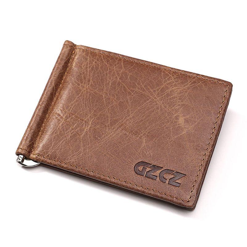 Premiium New Men Slim Wallet Money Clip Business Genuine Leather Cash ID Credit