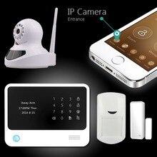 Chuangkesafe Sistema de Alarma de Seguridad Con Wifi/GSM/GPRS, IOS Android APP Control WiFi de Casa Inteligente Sistema de Alarma alarma Con la Cámara IP