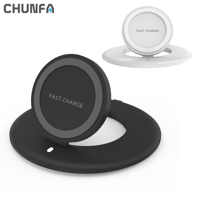 Qi Fast Charging Wireless Charger for Samsung S7 S7Edge Dock Quick Charging Device Desktop Phone Holder