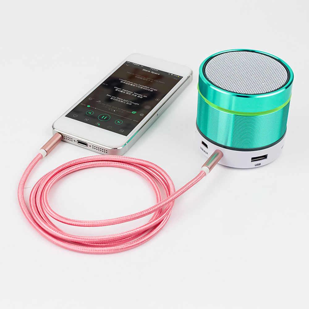 DJSona 100CM 3.5mm uniwersalna wtyczka męska na męską na Jack Audio przewód aux dla IOS Android samochodowy zestaw słuchawkowy z głośnikiem kabel pomocniczy