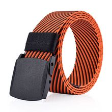 Hot sale fashion twill jacquard canvas smoothed nylon belt men's army tactical belt canvas belt with jeans
