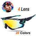 4 Lens 2017 Polarized JBR Cycling Sunglasses Mountain Bike Goggles Eyewear Sport MTB Men Women Bicycle Glasses