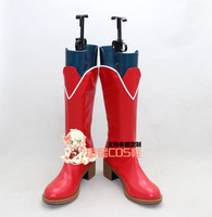LoveLive Love Live Sunny Day Song Tojo Nozomi Red Cosplay Shoes Boots X002