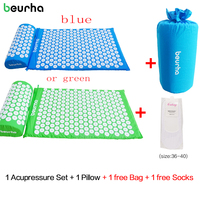 Beurha Acupressure Mat And Pillow Set Massage Mat For Natural Relief Of Stress Pain Tension Body
