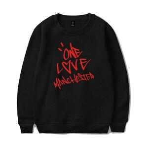 Image 2 - Nieuwe ONE LOVE MANCHESTER mode hip hop Mannen Vrouwen Hoodies capless Sweatshirts Lange Mouw o hals Sweatshirt Hoodie Trui Tops