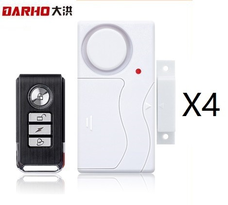 Darho Home Security Door Window  Alarm Warning System Wireless Remote Control Door Detector Burglar Alarm for package