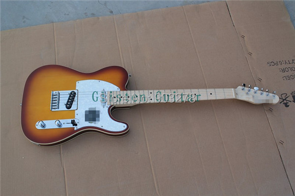 100% New Arrival  Sunburst Electric Guitar With Body Binding  T35