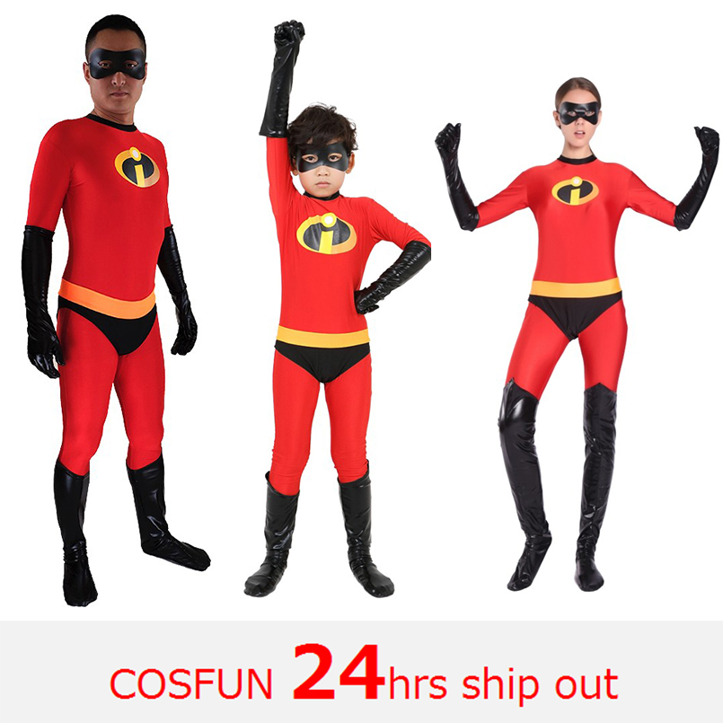 The Incredibles cosplay Costume for kid High Elastic Lycra Spandex Bodysuit Second Skin Suit Child Cosplay Costumes Halloween