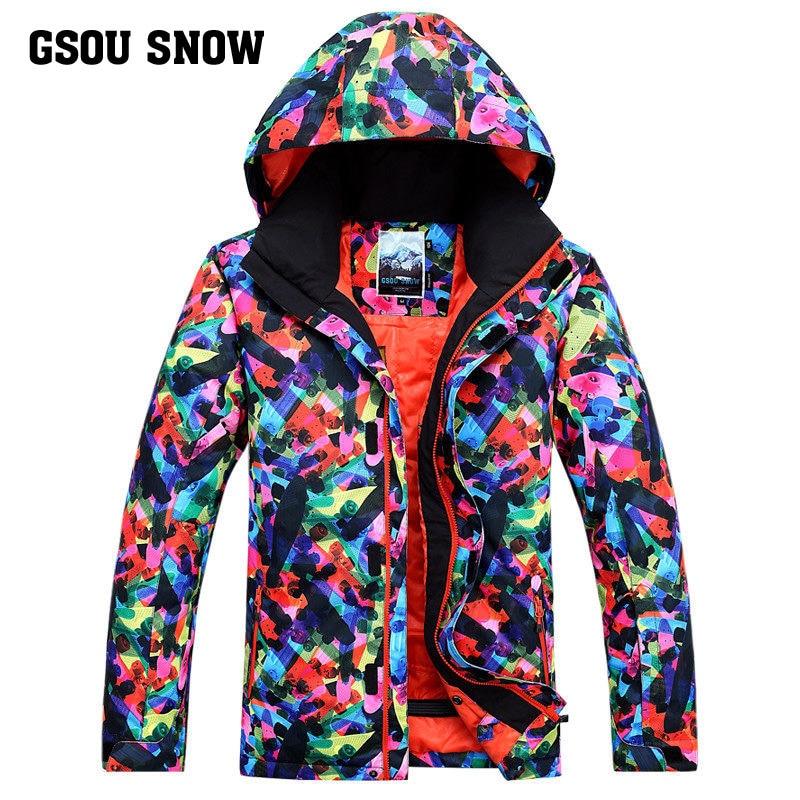 Gsou combinaison de Ski de neige hommes hiver imperméable coupe-vent respirant chaud extérieur Protection contre le froid veste de Ski planche unique