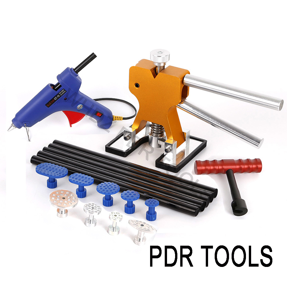 WHDZ PDR Tools Paintless Dent Removal Lifter Glue Sticks Glue Gun Pro Glue Tabs Mini T bar for Car Body Repair Tool Dent Repair pdr tools for car kit dent lifter glue tabs suction cup hot melt glue sticks paintless dent repair tools hand tools set
