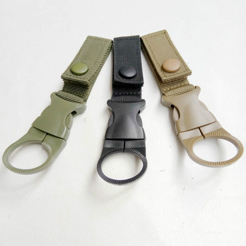 Tactical Backpack Military Molle Clip Hook Water Bottle Holder Outdoor Webbing Tool Bike Accessory Climb Carabiner Buckle Hook