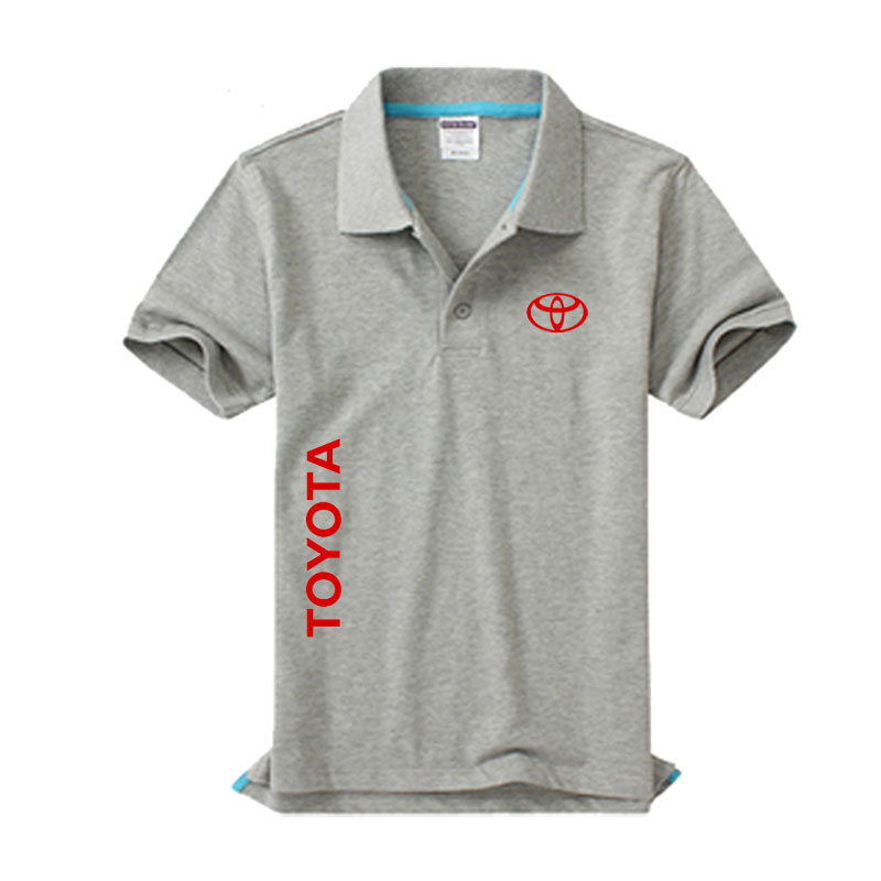 New Toyota logo Men's   Polo   Shirt High Quality Men Cotton Short Sleeve shirt Brands jerseys