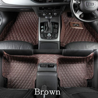 Right Hand Drive Custom Car Floor Mats For Subaru Outback 2015 Subaru Forester 2014 Noise Insulation