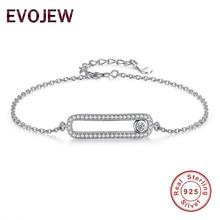 Marca de Moda Brillante CZ Diamond Movimiento Precioso hecho A Mano Amor Pulsera de Plata de Ley 925 Pulsera de La Joyería de La Boda para Las Mujeres