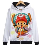 One piece cute Chopper Zoro japanese anime Luffy hat strew 3D Printed cosplay costume hoodie jacket zipper coat