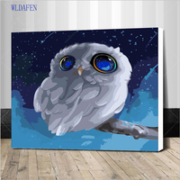frame Pictures DIY Oil Painting By Numbers Paint On Canvas Modern Wall Pictures For Living Room Abstract Oil painting owls